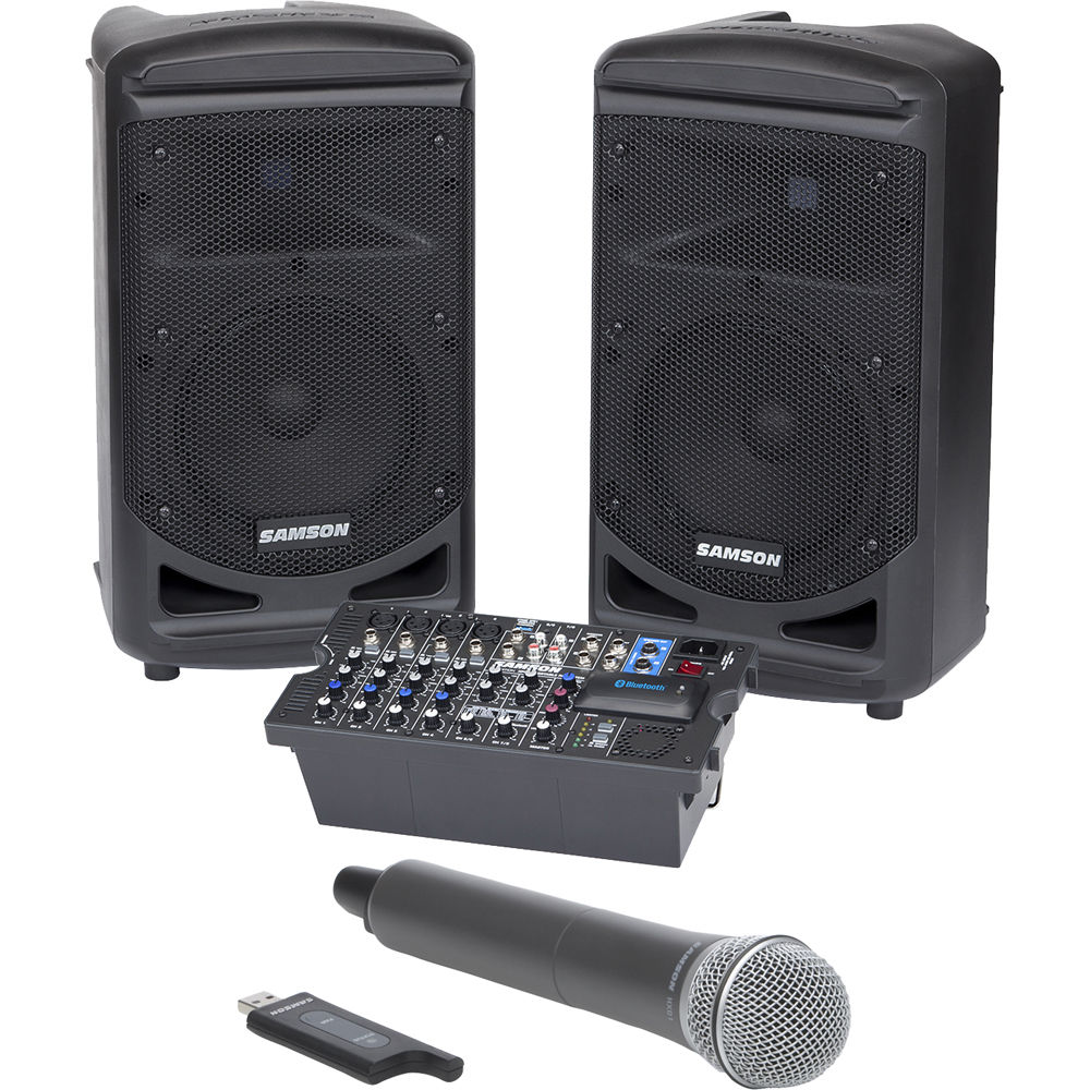 Portable Pa System With Wireless Speakers Wire Center Hi Fi Tone Control Circuit C1815 8211 C945 Samson Expedition Xp800 800w Saxp800w B H Rh Bhphotovideo Com Presentation
