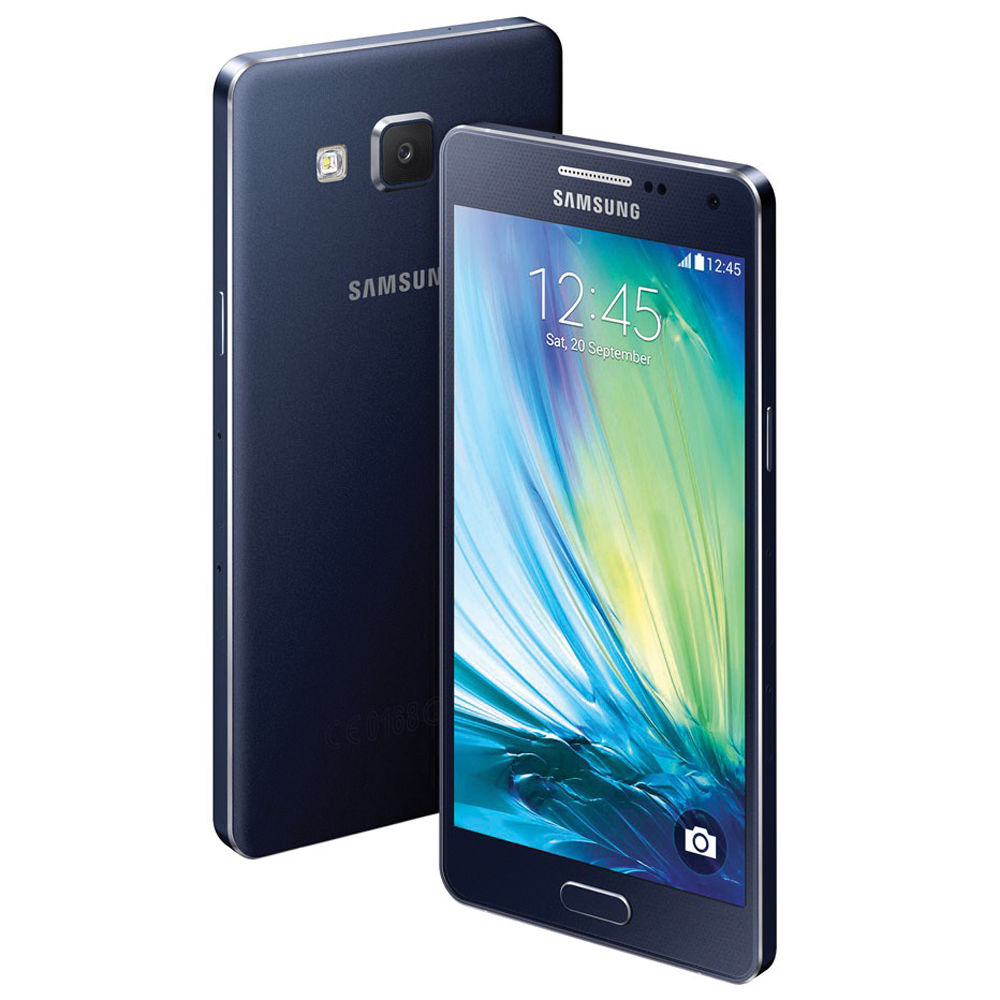 samsung galaxy a3 duos sm a300h 16gb smartphone a300h black b h. Black Bedroom Furniture Sets. Home Design Ideas
