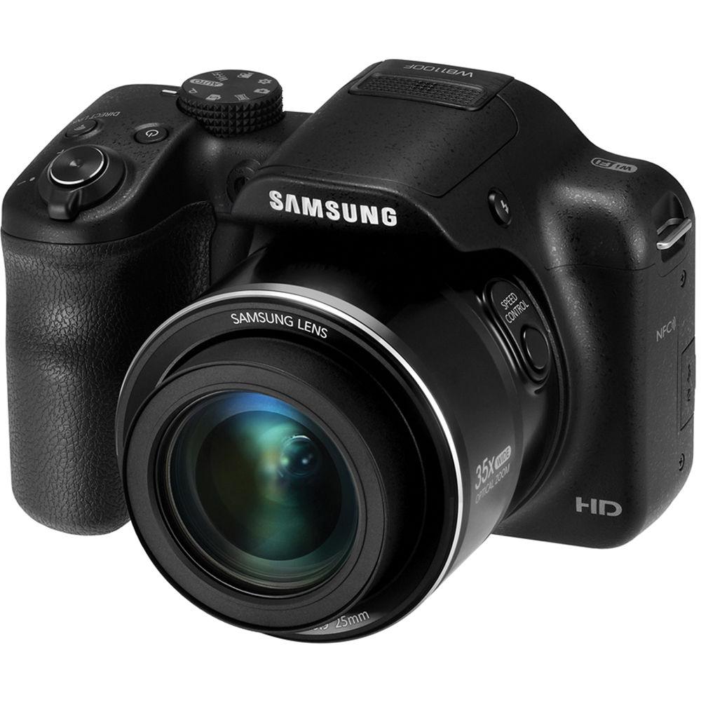 Samsung WB1100F Smart Digital Camera (Black) EC ...