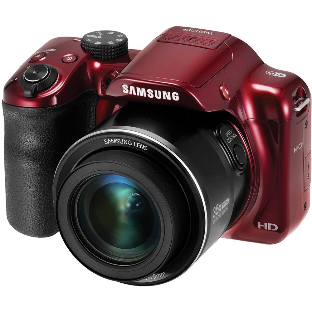 Samsung WB1100F Smart Digital Camera (Red) EC-WB1100BPRUS B&H