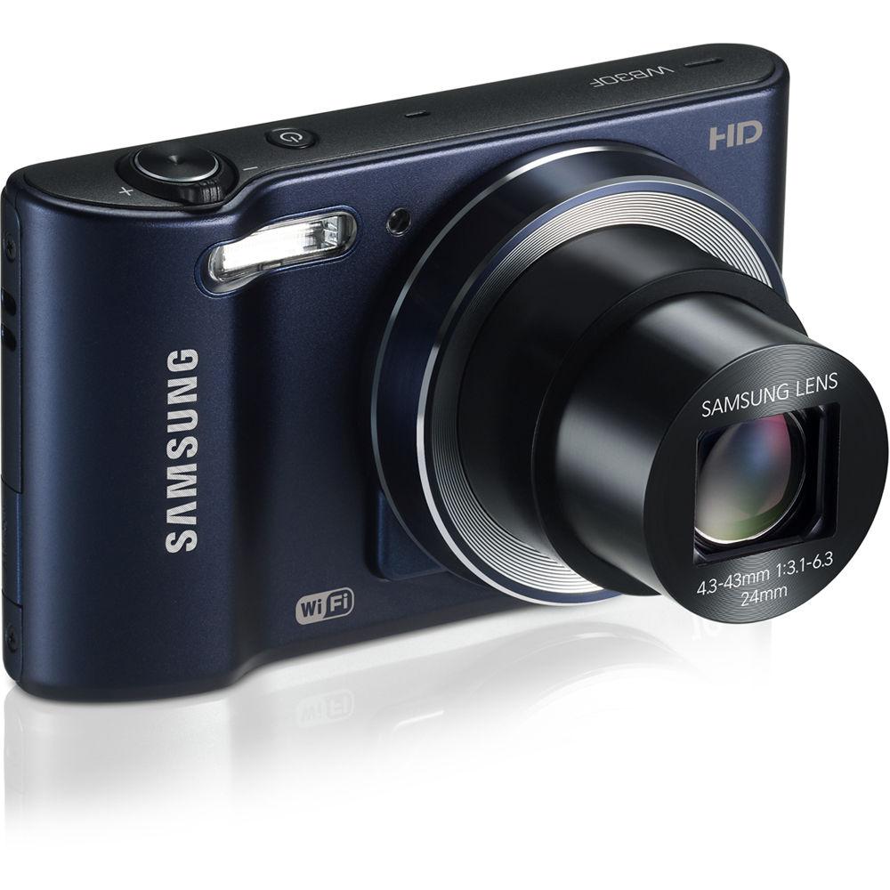 Samsung WB30F Smart Digital Camera (Cobalt Black) EC ...