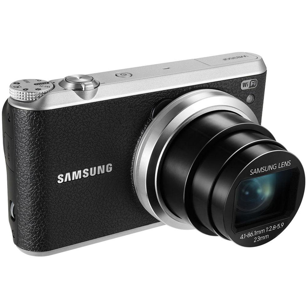 Samsung WB350F Smart Digital Camera (Black) EC-WB350FBPBUS B&H