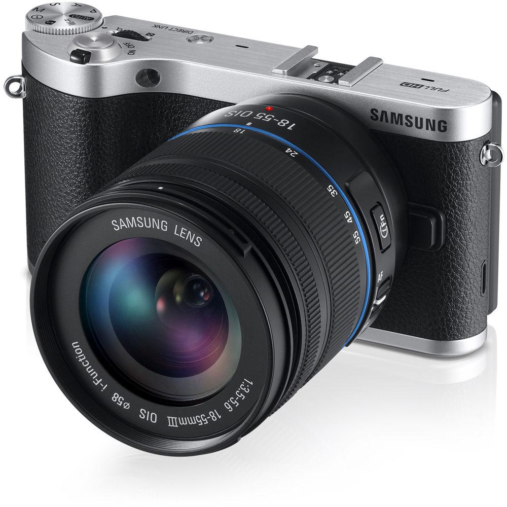 Samsung NX300 Mirrorless Digital Camera EV-NX300ZBSTUS B&H ...