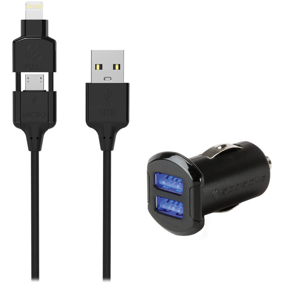 Scosche strikeDRIVE pro 12W + 12W Car Charger for USB I3MC242M