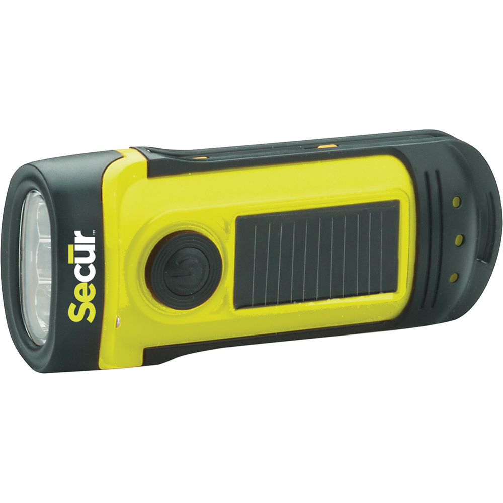 Secur Waterproof Solar/Dynamo LED Flashlight SCR-SP-1002 B&H