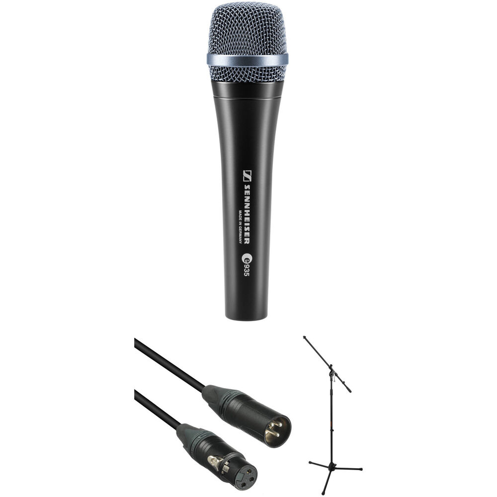 sennheiser e935 dynamic handheld vocal mic with stand b h. Black Bedroom Furniture Sets. Home Design Ideas