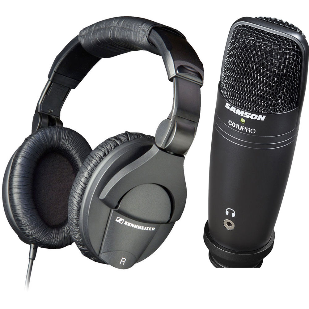 sennheiser hd 280 pro recording kit with usb microphone b h. Black Bedroom Furniture Sets. Home Design Ideas