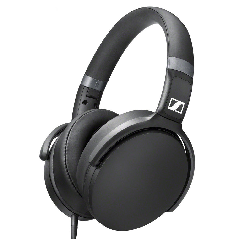 sennheiser hd over ear headphones with 3 button 506779 b h. Black Bedroom Furniture Sets. Home Design Ideas