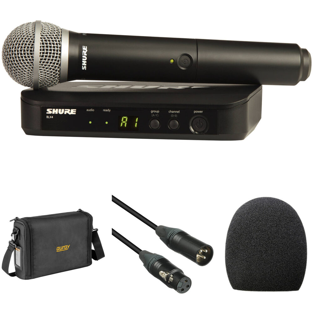shure blx24 pg58 handheld wireless microphone system with carry. Black Bedroom Furniture Sets. Home Design Ideas