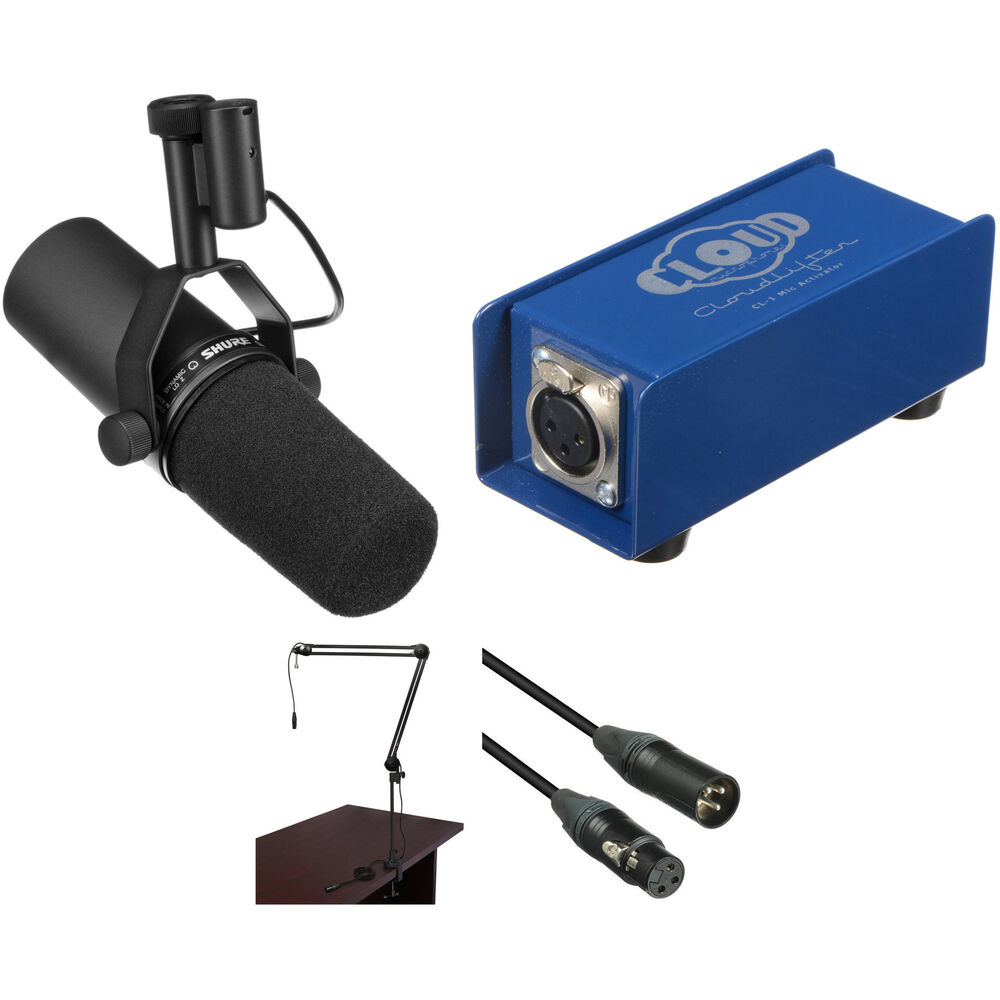 shure shure sm7b broadcaster package with cloudlifter cl 1 kit. Black Bedroom Furniture Sets. Home Design Ideas