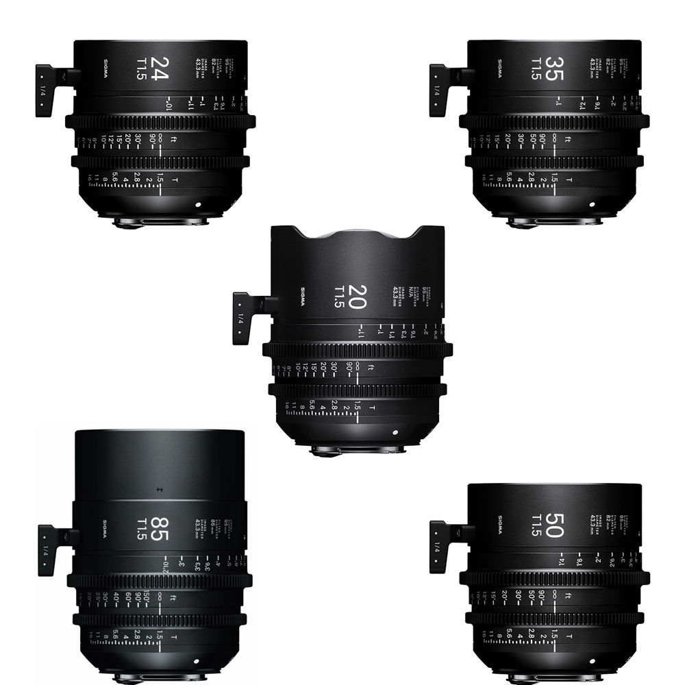Sigma T1.5 FF High-Speed 5 Prime Lens Kit with Case WZV966 B&H