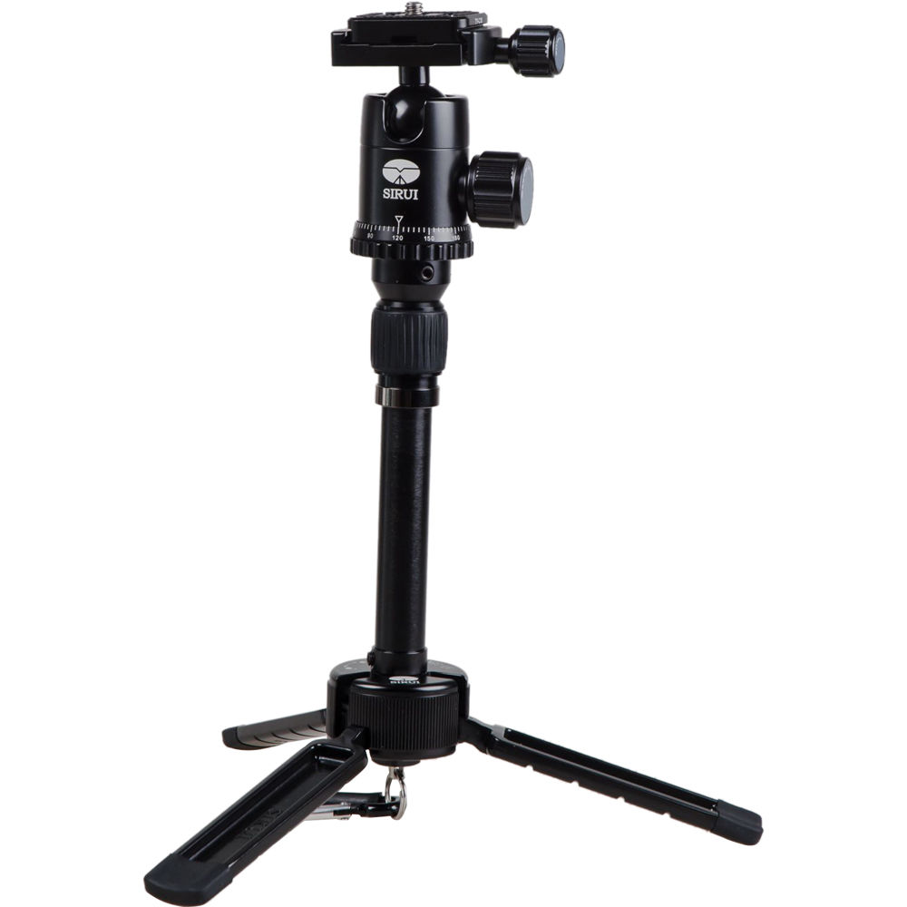 sirui 3t 35k table top tripod black su3t35k b h photo video. Black Bedroom Furniture Sets. Home Design Ideas