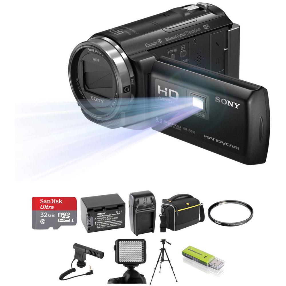 Sony Hd Video Camera With Projector Hdrpj410 Full Handycam Hdr Pj410 Gratis Microsd 8gb Case Mini Tripod Download Pj540