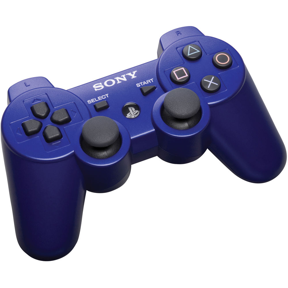 sony dualshock 3 wireless controller metallic blue 99007 b h. Black Bedroom Furniture Sets. Home Design Ideas