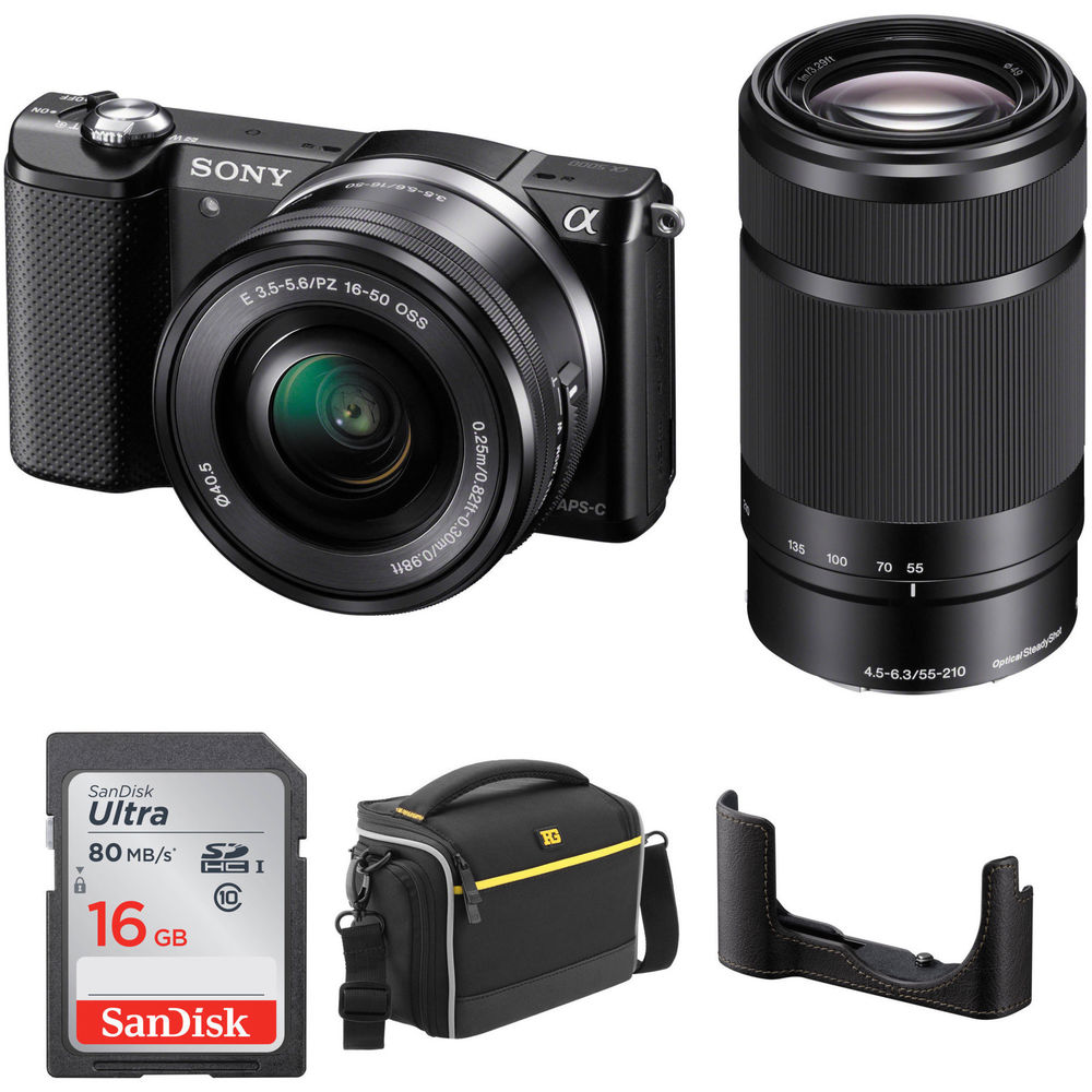sony alpha a5000 mirrorless digital camera with 16 50mm. Black Bedroom Furniture Sets. Home Design Ideas