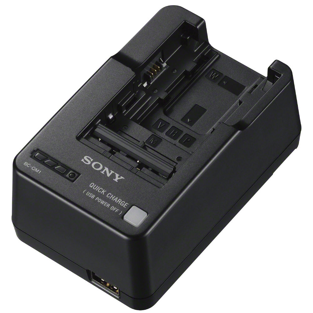 Sony Bc Qm1 Infolithium Battery Charger Bh Photo Video Baterai Recharge Aaa