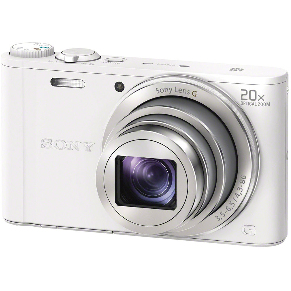 sony cyber shot dsc wx350 digital camera white dscwx350. Black Bedroom Furniture Sets. Home Design Ideas