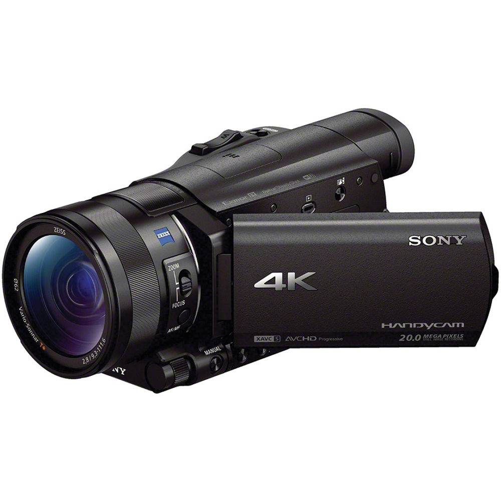 sony fdr ax100 4k ultra hd camcorder fdrax100 b b h photo video