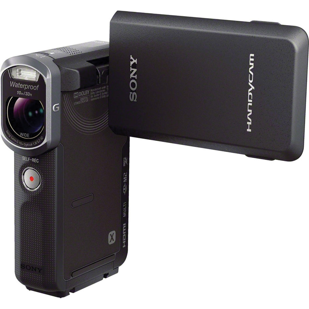 sony waterproof video camera sony hdr gw66e waterproof handycam camcorder hdr gw66e b amp h 276