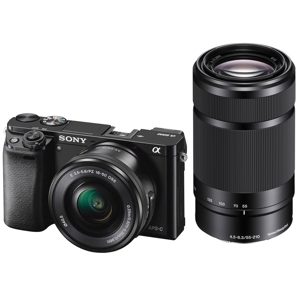 Sony Alpha a6000 Mirrorless Digital Camera ILCE6000Y/B B&H Photo