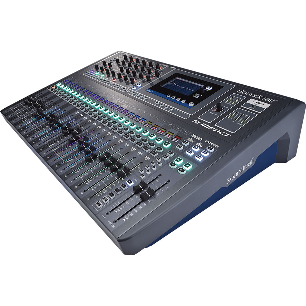 soundcraft si impact 40 input digital mixing console and 5056170. Black Bedroom Furniture Sets. Home Design Ideas