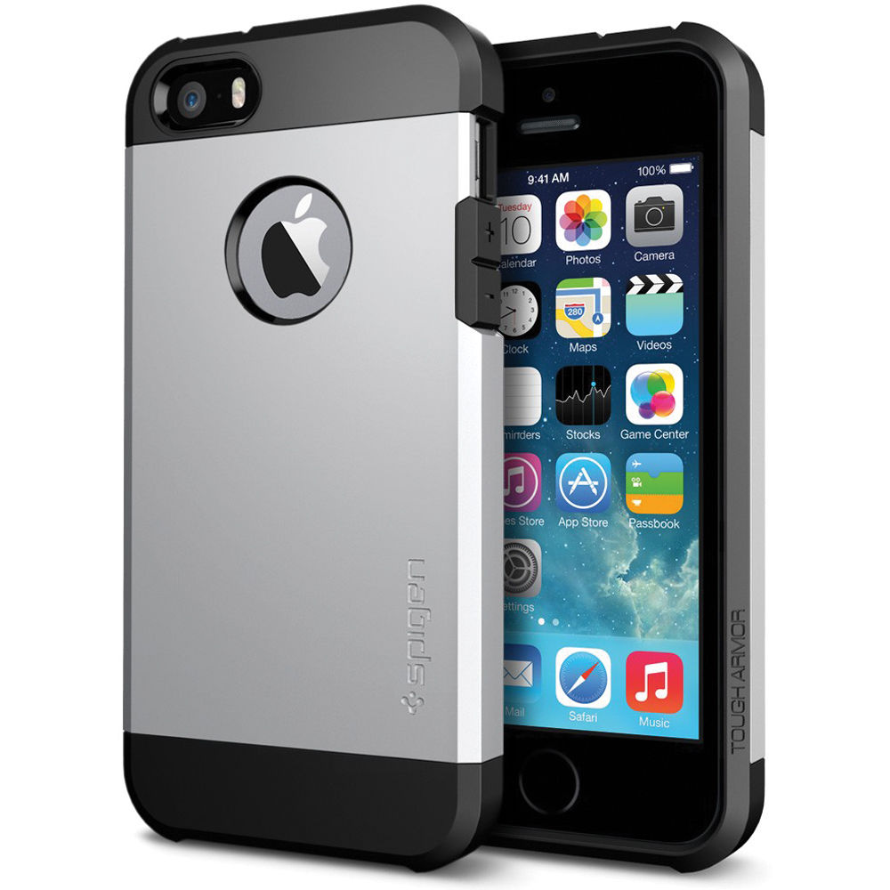 extended spigen tough armor iphone se case satin silver considered lightweight ROM
