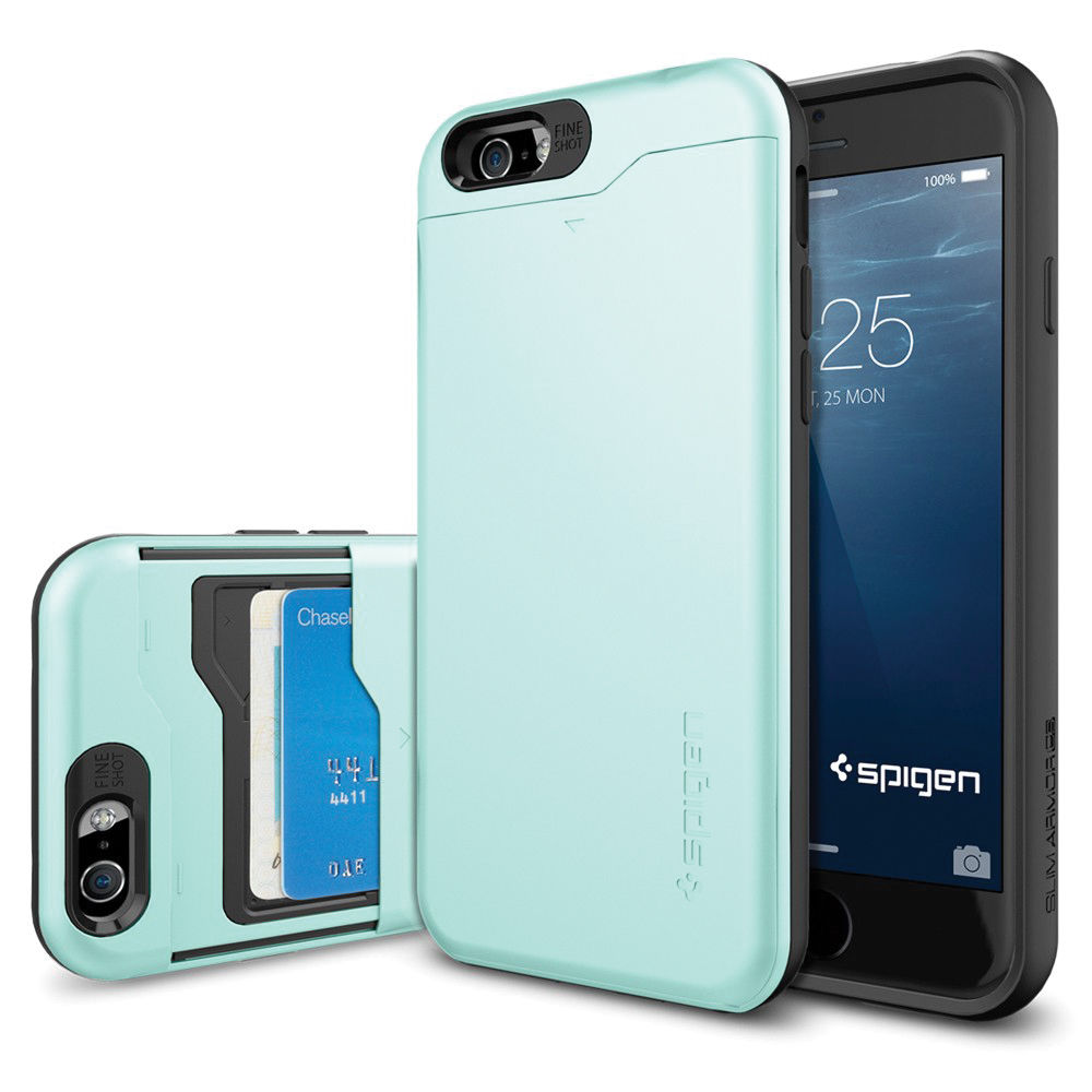 Spigen Slim Armor CS Case for iPhone 6/6s (Mint) SGP10966 B&H