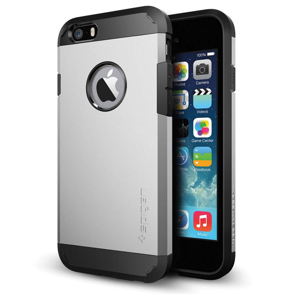 spigen tough armor case for iphone 6 6s satin silver sgp10971. Black Bedroom Furniture Sets. Home Design Ideas