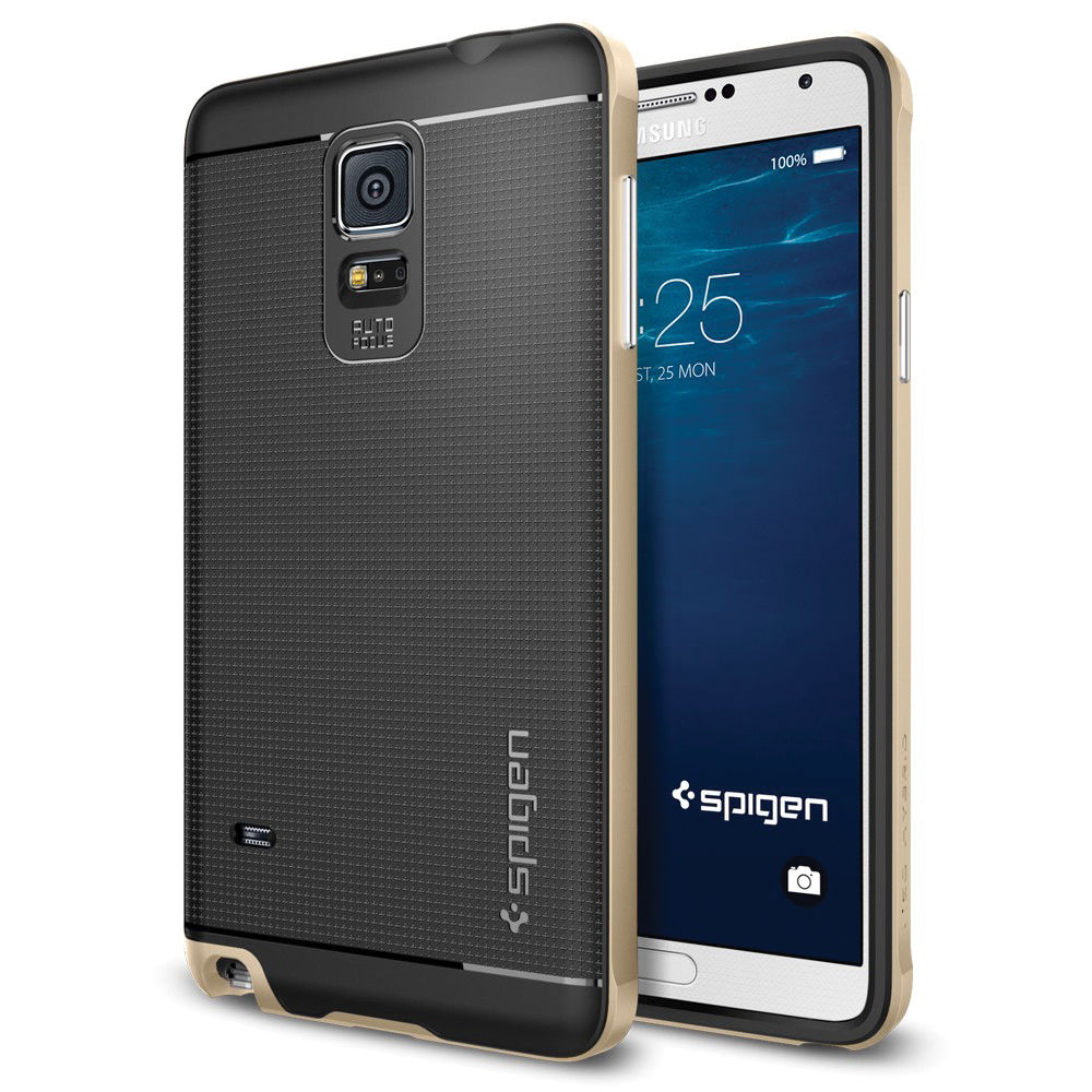 Spigen Neo Hybrid Case for Samsung Galaxy Note 4 (Champagne Gold)