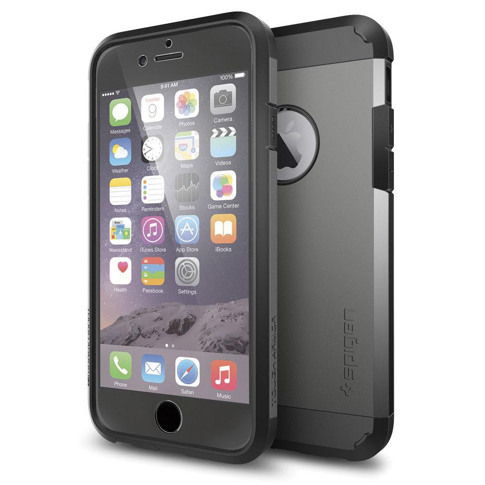 spigen tough armor iphone 6s 6 case gunmetal