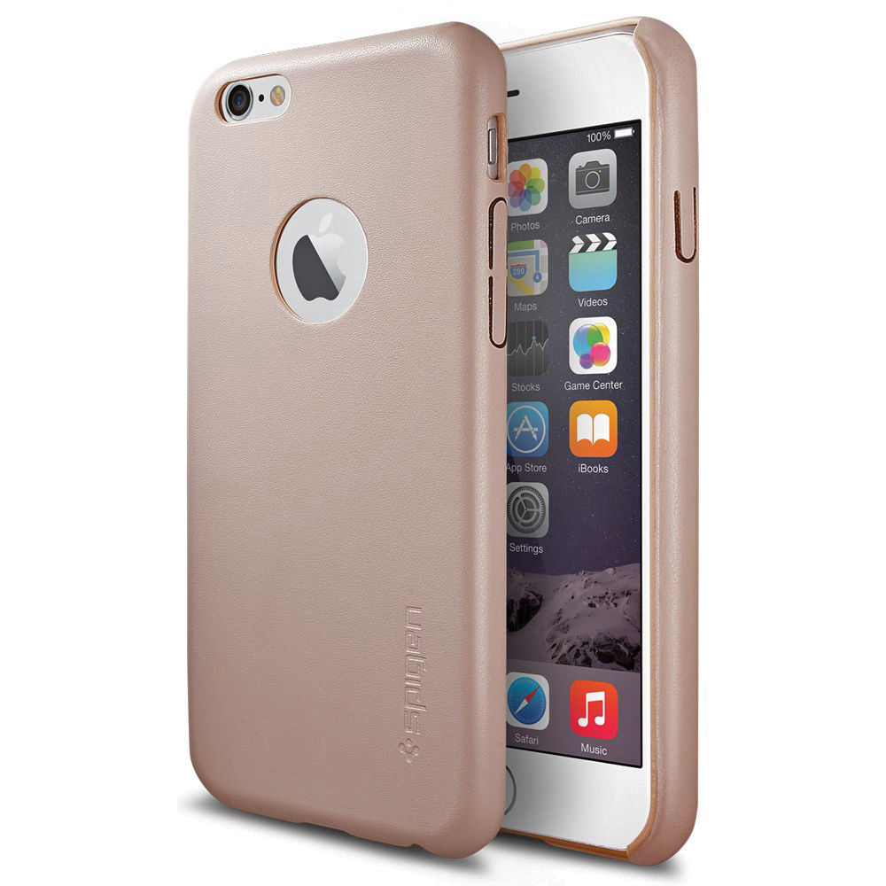 iphone 6 phone spigen leather fit for iphone 6 soft pink sgp11374 b amp h 11374