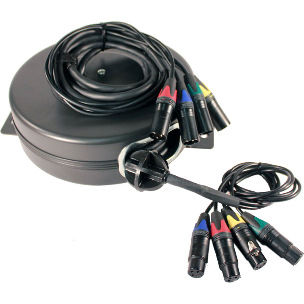 Stage Ninja XLR4-25-S Retractable Quad-Fan XLR Cable XLR4-25-S