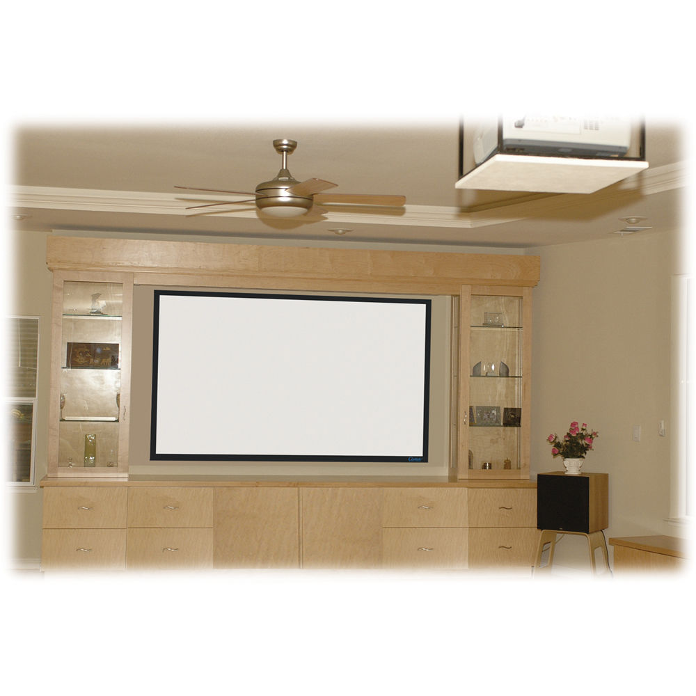 stewart filmscreen cima 135 169 hdtv format fixed frame projection screen white