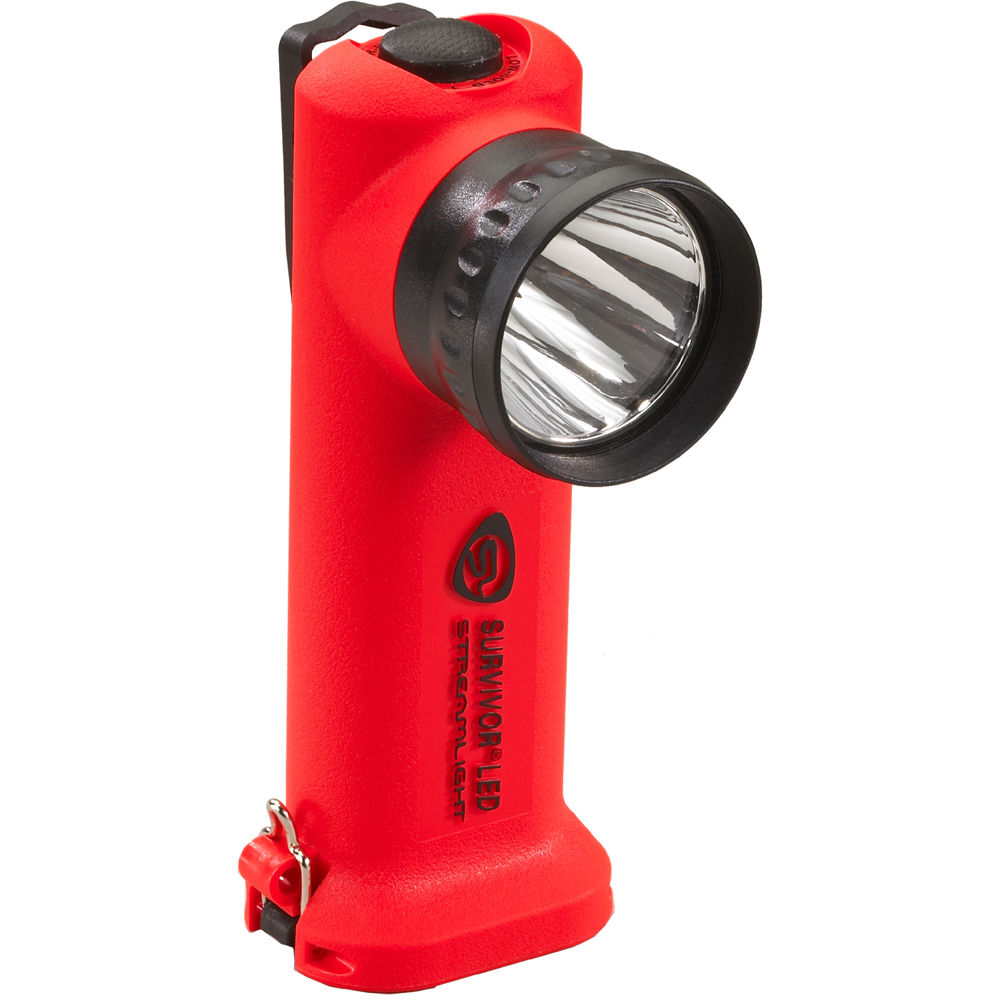 Streamlight Survivor Right Angle Alkaline Led Flashlight 90540 Simple Torch Using Single Aa 15v Battery With Four Pack Orange