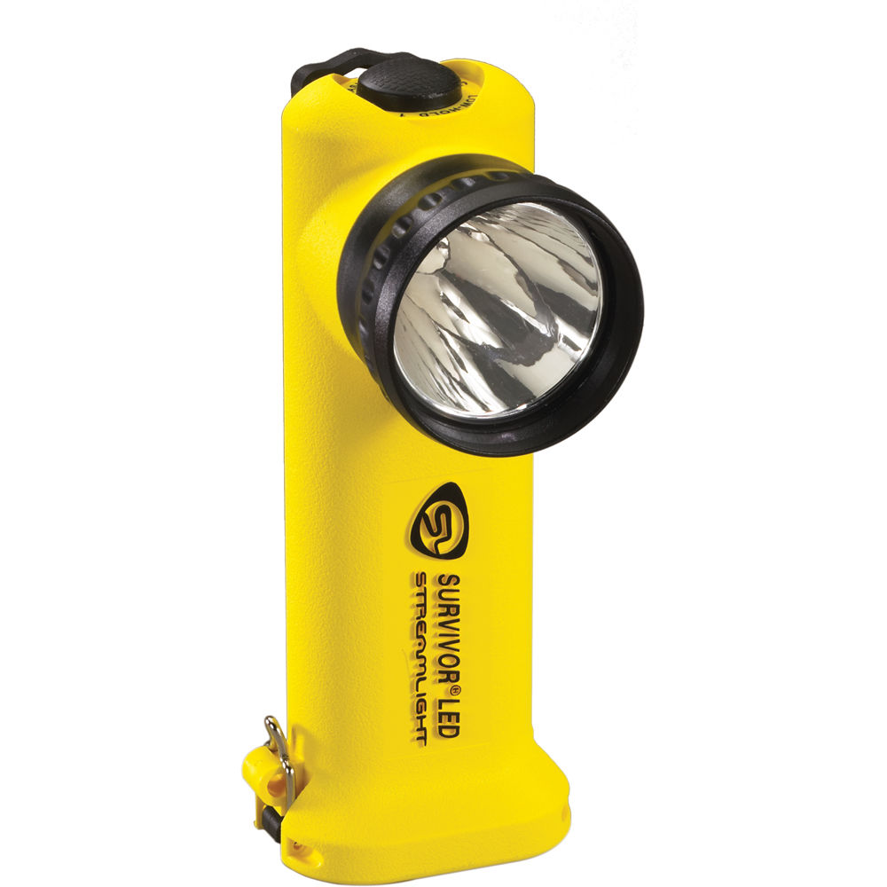 Streamlight Survivor Right Angle Alkaline Led Flashlight 90541 Simple Torch Using Single Aa 15v Battery With Four Pack Yellow