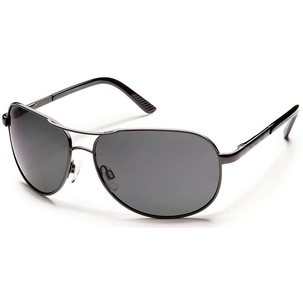 ab383096d8c4 SUNCLOUD OPTICS Aviator Sunglasses (Gunmetal Frames with Polarized Gray  Lenses)