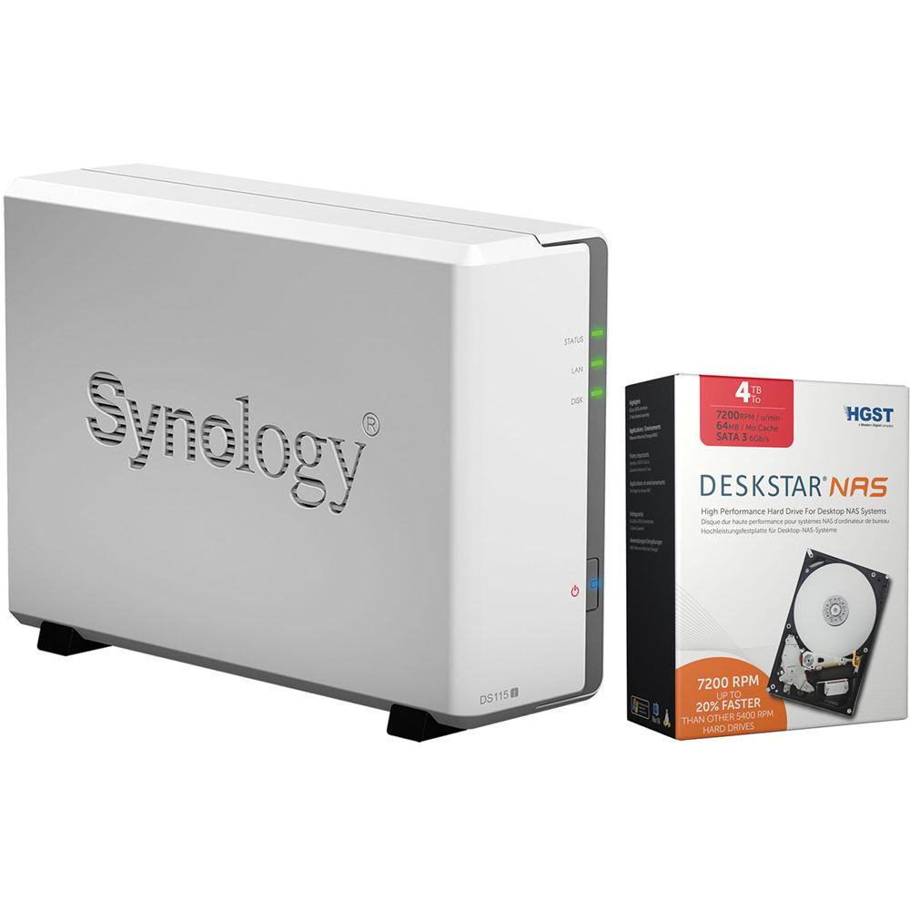 synology diskstation ds115j 4tb 1 x 4tb single bay nas server. Black Bedroom Furniture Sets. Home Design Ideas