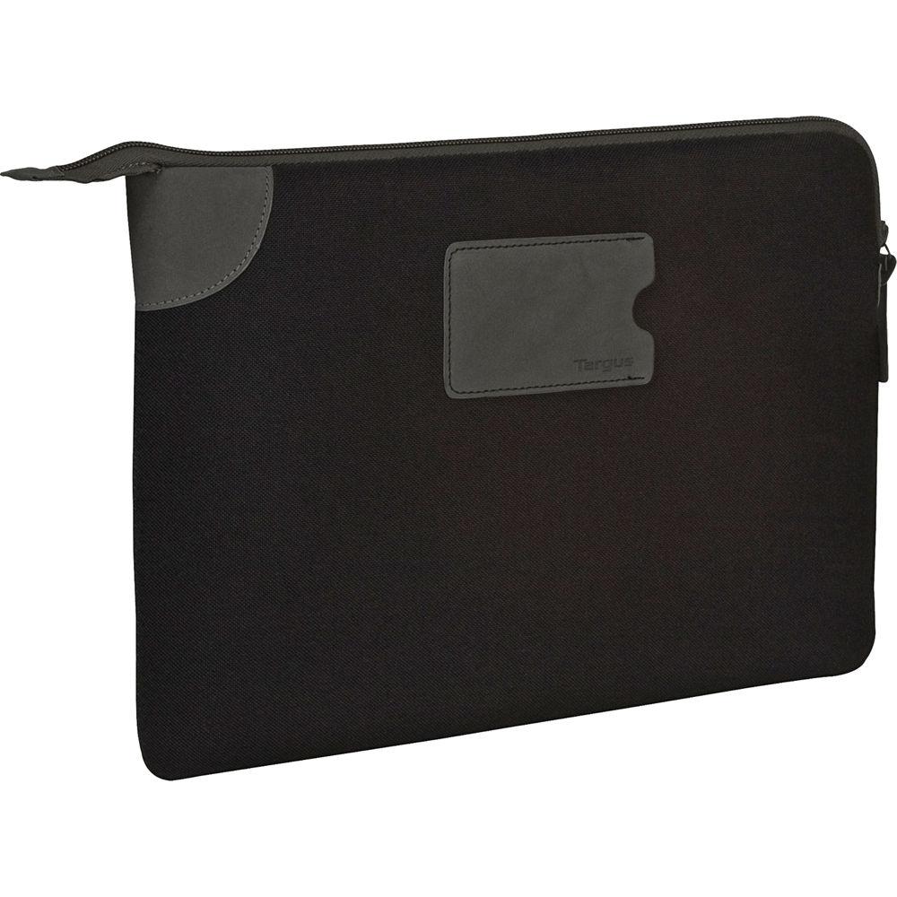 targus 15 banker sleeve for macbook pro black tss25101us. Black Bedroom Furniture Sets. Home Design Ideas