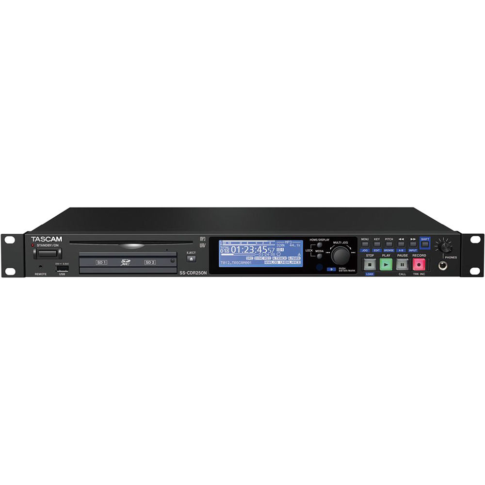 tascam ss cdr250n two channel networking cd and media ss cdr250n. Black Bedroom Furniture Sets. Home Design Ideas