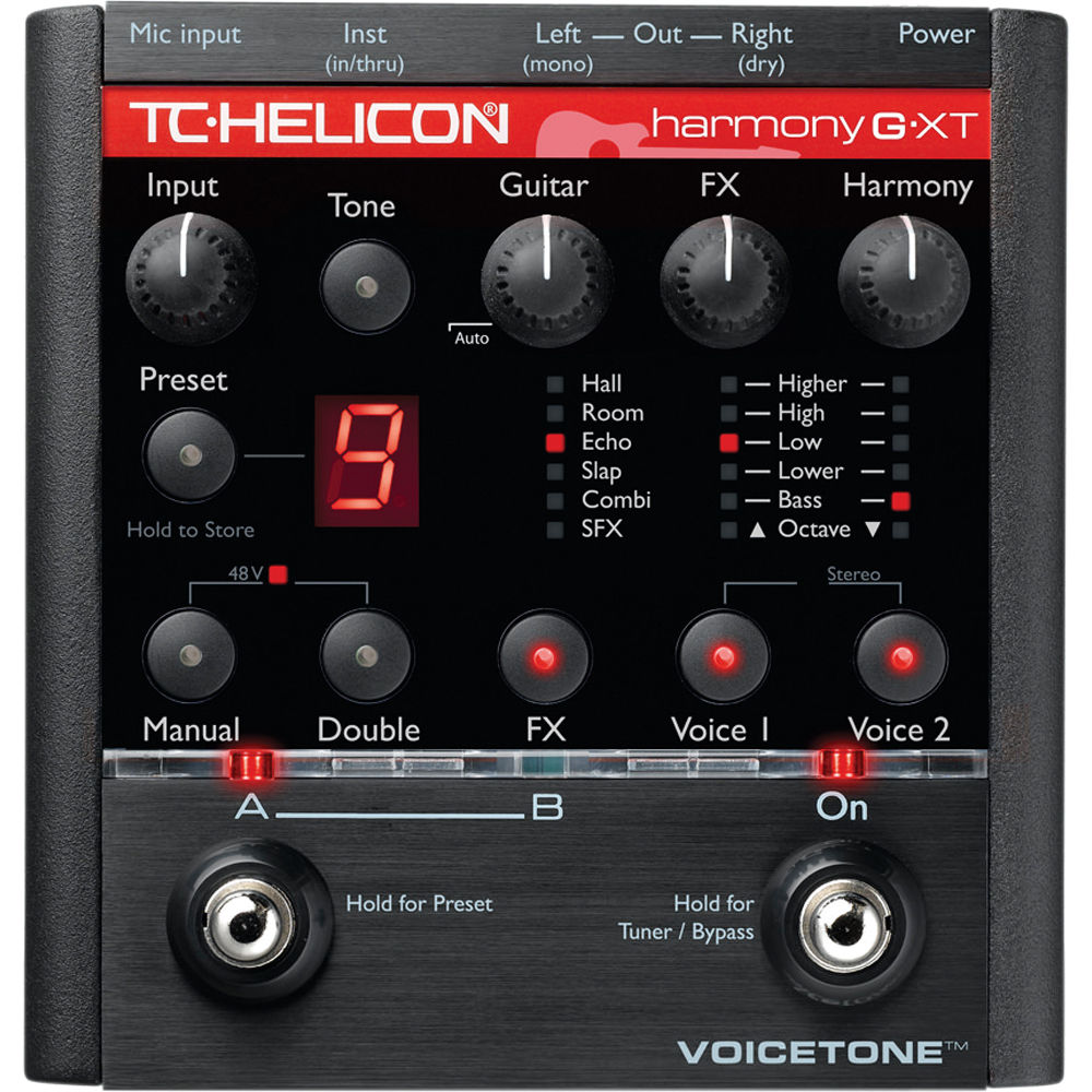 tc helicon voicetone harmony g xt guitar vocal 996000905. Black Bedroom Furniture Sets. Home Design Ideas