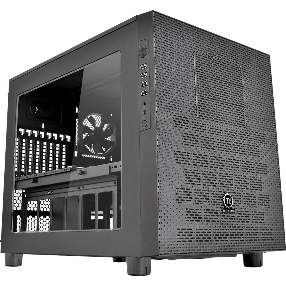 thermaltake core x5 cube case black ca 1e8 00m1wn 00 b h photo. Black Bedroom Furniture Sets. Home Design Ideas