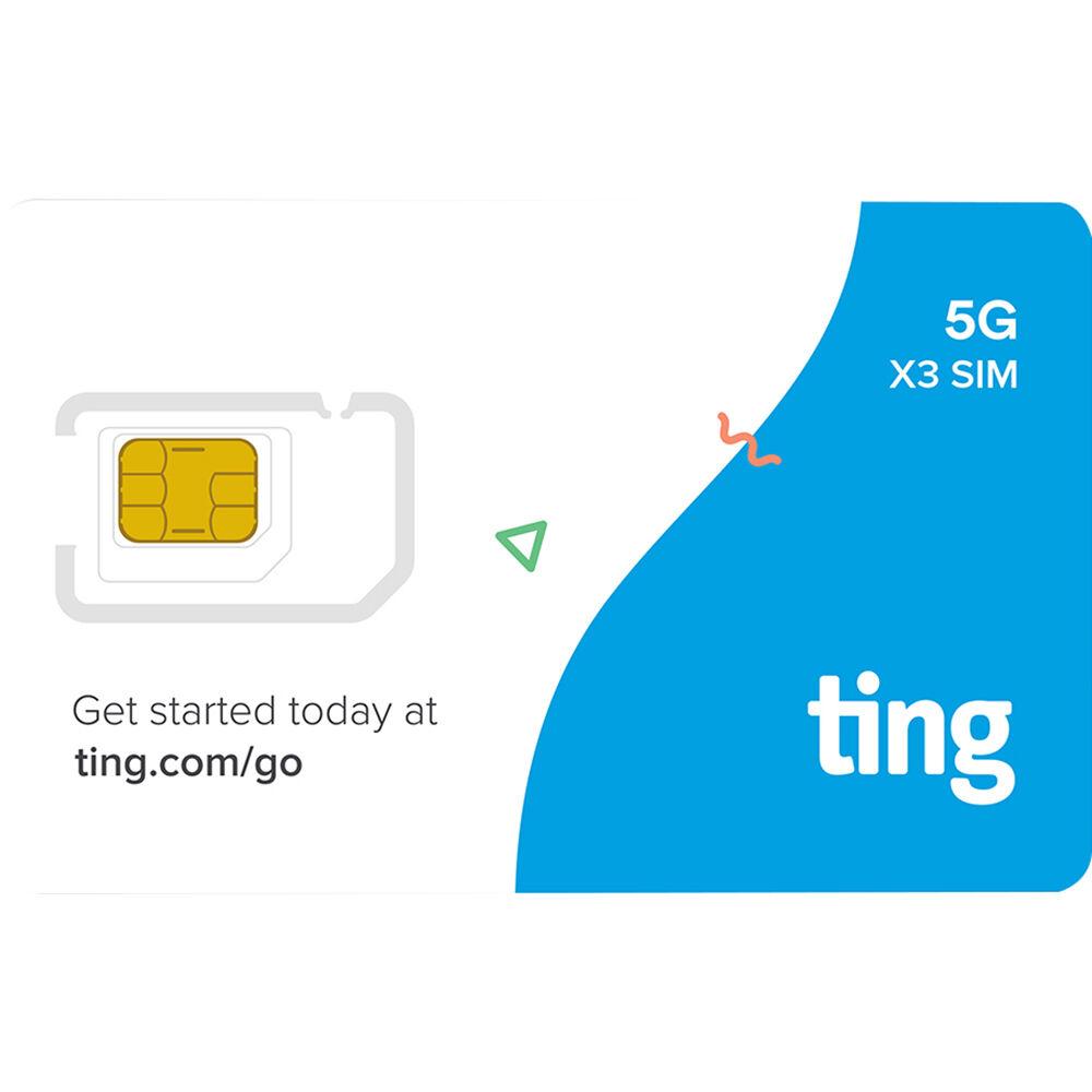 ting 5G & LTE 3-in-1 SIM Card Kit STRK-X3PACKRETAIL30 B&H