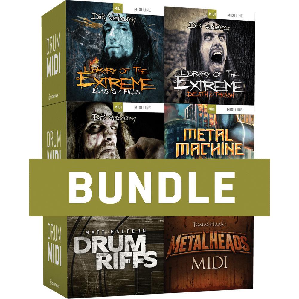Toontrack Metal Drums Midi 6 Pack Midi Files For Metal Tt040sn