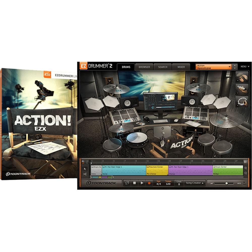 toontrack action ezx expansion pack for ezdrummer 2 tt421sn. Black Bedroom Furniture Sets. Home Design Ideas