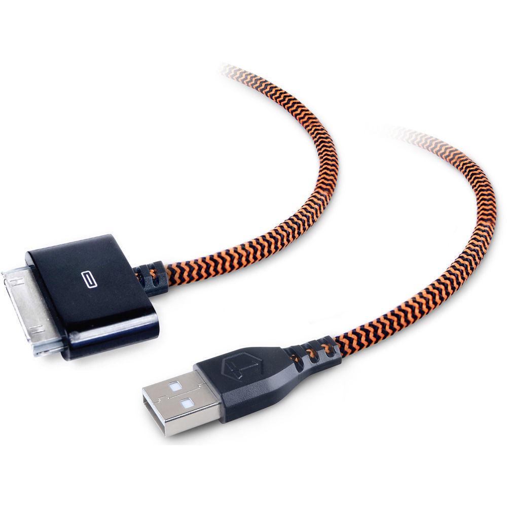 toughtested braided usb type a male to apple tt fc6 iphone b h. Black Bedroom Furniture Sets. Home Design Ideas