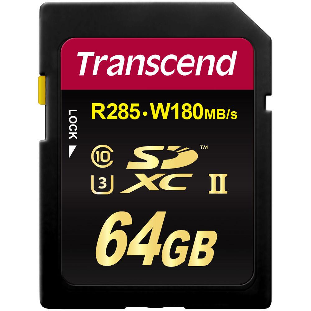 SDXC Transcend 64GB Class10 UHS-I U3 (TS64GSDU3)