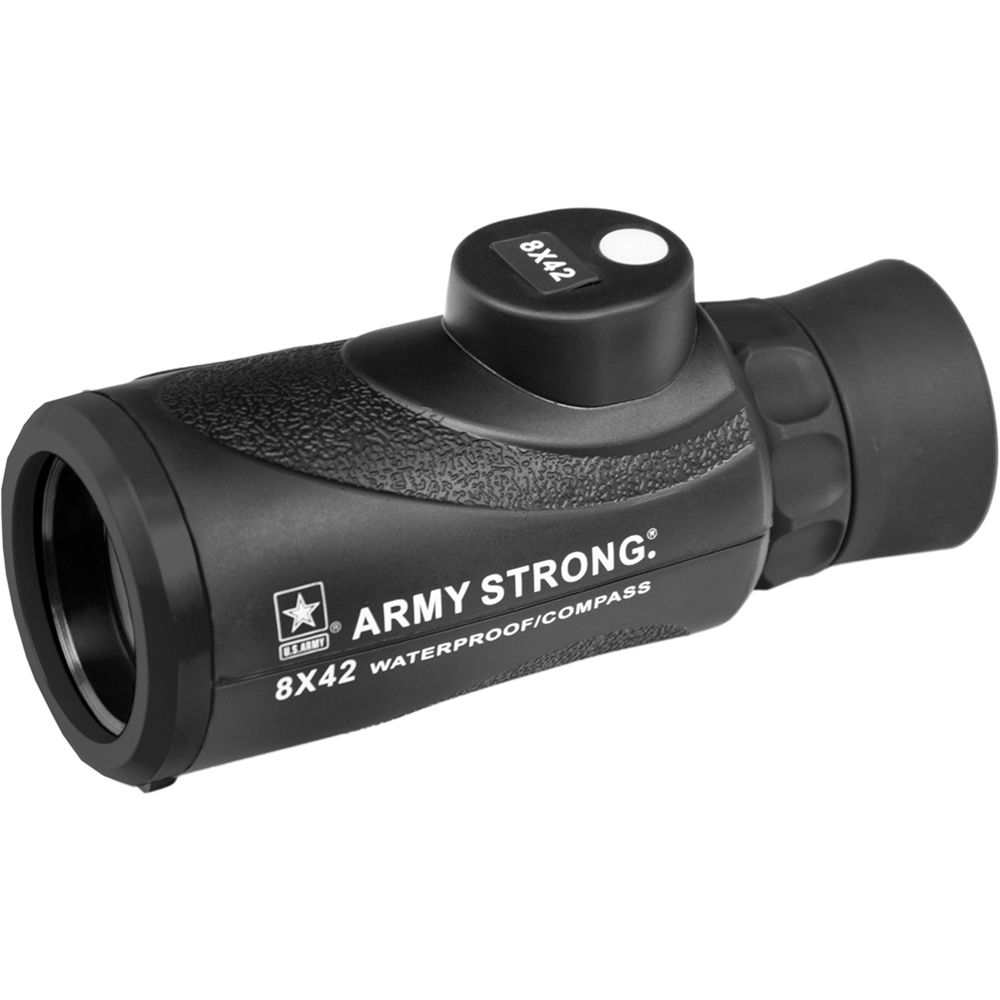 us army 8x42 waterproof monocular with compass us mc842 b h
