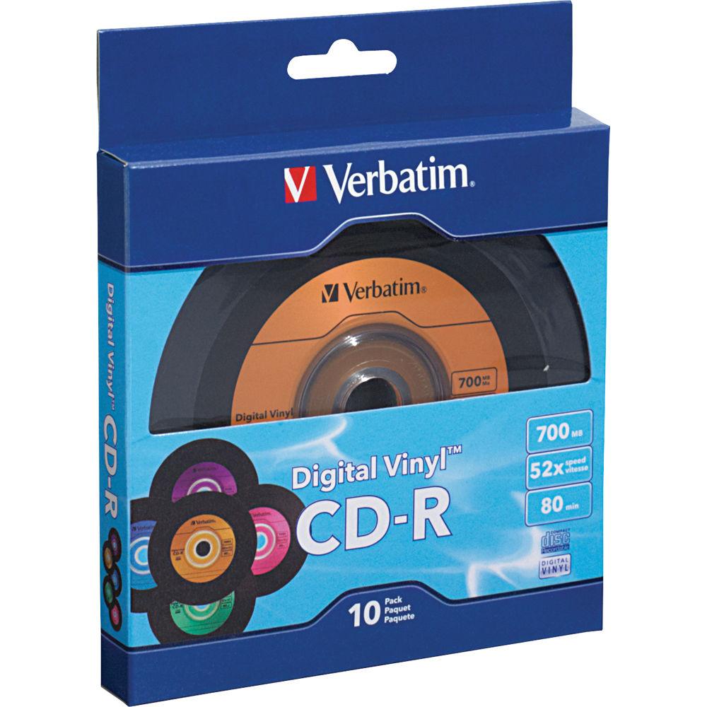 verbatim digital vinyl cd r 700mb 80 minutes disc 97935 b h. Black Bedroom Furniture Sets. Home Design Ideas