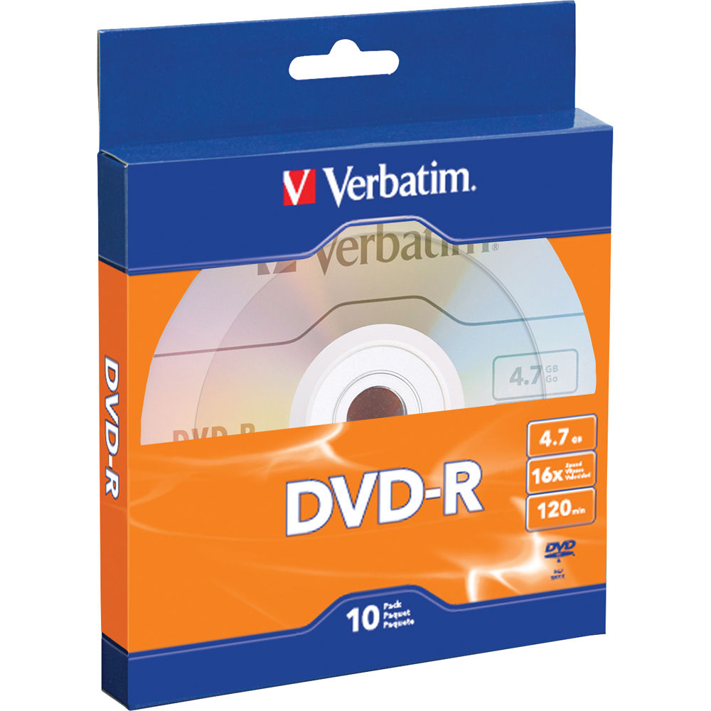 Verbatim DVD-R 4.7GB/120 Minutes 16X Disc (Pack Of 10