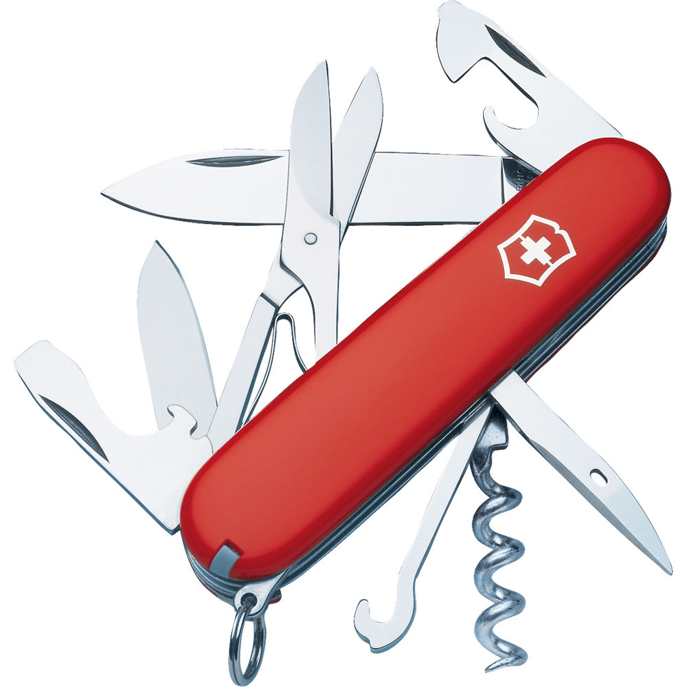 Victorinox Climber Pocket Knife Red Clamshell Packaging